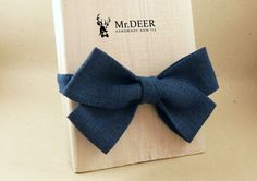 Blue Butterfly Bow Tie  Ready Tied Bow Tie  Adult by MrDEERbowtie