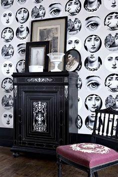 Fornasetti Riflesso In Milan Showroom Wallpaper By Cole Son - Piero fornasetti wallpaper designs