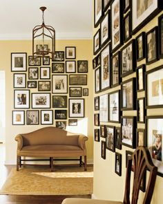 wonderful tones -- gold + cream + ebony create a sophisticated, welcoming warmth