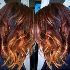 Subtle Balayage Brunette Hairstyles With fall-Winter Colors Why fall into the same hair color rut? Be fashion and join the trend of balanced color. Add dimension to your hair color, with excellent Balayage color highlights. The balayage Hair Color And Cut, Ombre Hair Color, Cool Hair Color, Subtle Balayage Brunette, Balayage Color, Red Balayage Hair, Copper Balayage, Red Bayalage, Fall Balayage