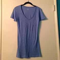 BUNDLED Short sleeve VS tee shirt. Never worn still has size sticker on it, no tags. There is a small hole near the right shoulder shown in pic 4. ⭐️Price firm except if bundling⭐️ Victoria's Secret Tops Tees - Short Sleeve