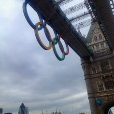 crossing tower bridge during the olympics!