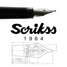 Scrikss Fountain Pen Technical Drawing
