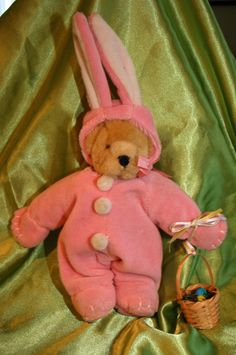 "Muffy Vanderbear in ""Pink Easter Bunny with basket"" Outfit~7inch Muffy Included  #Easter"