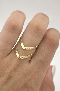Beautiful V shaped ring.