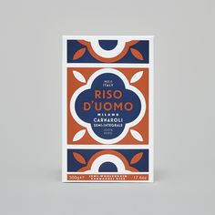 Riso D'uomo by Here Design, United Kingdom. #branding #packaging
