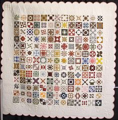 """♥ the white quilted triangles.  """"A Tribute to Jane"""" made by Patricia Mayer and Karen Watts.  Some day Melanie Yost wants to make a Just Jane Quilt!  :)"""