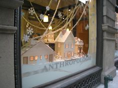 winter #Anthropologie, #window_display, #installation, #little_houses