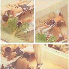 Louis and Harry on vacation.