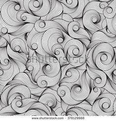 Seamless Raster Pattern for coloring book. Ethnic,  retro, doodle, tribal design element. Black and white background. Doodle vector background Henna paisley mehndi doodles design element
