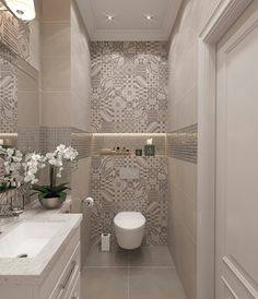 55 Fresh Small Master Bathroom Remodel Ideas And Design - - Kochen - Badezimmer ideen Small Toilet Room, Guest Toilet, Downstairs Toilet, Toilet Wall, Bathroom Design Small, Bathroom Interior Design, Bathroom Ideas, Bathroom Remodeling, Remodeling Ideas