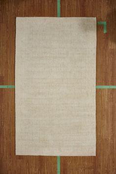 "5' 3"" x 7' 7"" Ivory Handloom Hand Knotted Wool Area Rug Modern NEW SALE"