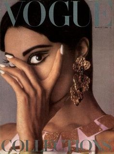 The first black Vogue cover girl. Donyale Luna. 1966