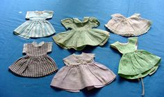 6 Vintage Cotton Print Doll Dresses. 1930s by chalcroft on Etsy, $12.00