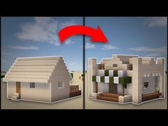 minecraft how to remodel a desert village large house youtube