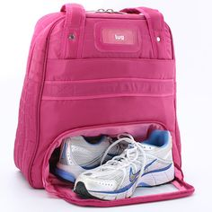 Gym bag with shoe compartment.... http://www.luglife.com/Puddle-Jumper-Overnight-Gym-Bag