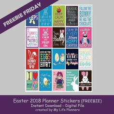"Easter is just around the corner and seems to be approaching fast this year.  Will you be ready?  Now your planners can be with this week's feature for Freebie Friday Easter Quotes. The freebie stickers will fit most planners but are the standard size of Classic Happy Planner at 1.5"" x 2.25"". To download the FreebieRead More"