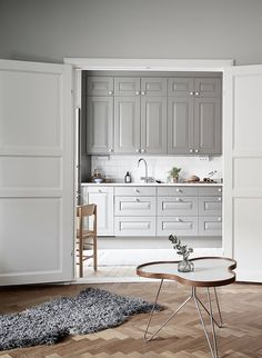 Gray kitchens are quickly replacing their all-white counterparts. The trend is hugely influenced by Scandinavian interiors, which often sway toward monochrome tones. Warmer grays create a slightly moody atmosphere without making the room feel too cold.