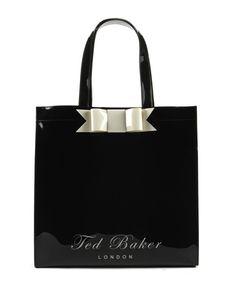 TED BAKER Larcon - Bow shopper blaack tote bag ($50)