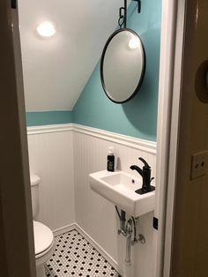 Drop In Bathroom Sinks, White Bathroom, Bathroom Storage, Bathroom Interior, Bathroom Ideas, Bathroom Organization, Bathroom Cabinets, Master Bathrooms, Bathroom Mirrors