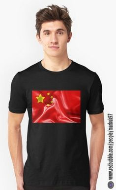 China Flag Men's T-Shirt http://www.redbubble.com/people/markuk97/works/13937786-china-flag?asc=t&p=t-shirt via @redbubble #china #flag #redbubble