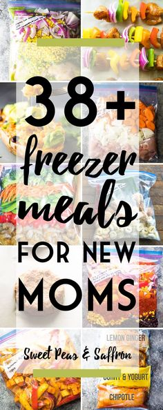 More than 38 healthy freezer meals for new moms. I made some of these and they were fantastic.  Can't wait to make more.