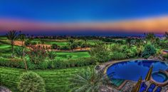 HDR capture for the landscape of the golf area in kattameya heights compound in new cairo captured from a villa there :-))