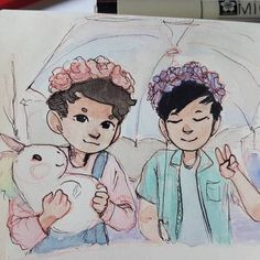 Dan & Phil pastel- so precious!!