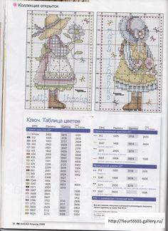 Style Sarah Kay -Fillette aux fleurs Tiny Cross Stitch, Cross Stitch Kitchen, Cross Stitch Cards, Counted Cross Stitch Patterns, Cross Stitch Designs, Cross Stitching, Cross Stitch Embroidery, Sarah Kay, Zoom Zoom