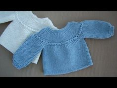 This model will be a very nice choice for your baby. By examining the picture, you can knit it to your own baby. Baby Cardigan, Cardigan Bebe, Baby Pullover, Baby Vest, Baby Knitting Patterns, Knitting For Kids, Baby Patterns, Free Knitting, Knitting Videos