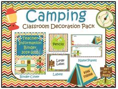 Camping Classroom Decoration Pack by LollyLandDesigns on Etsy