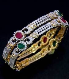 Buy BEAUTIFUL CZ STONE STUDDED BANGLES Bracelet online