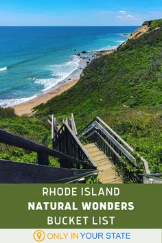 From beautiful bluffs to blue beaches, cliff walks to state parks, there's a lot of nature to enjoy in Rhode Island. Add these scenic outdoor destinations to your outdoor bucket list. Beautiful Park, Beautiful Beaches, Places To Travel, Places To See, Hidden Beach, Vacation Destinations, Vacations, Local Attractions, Walking In Nature