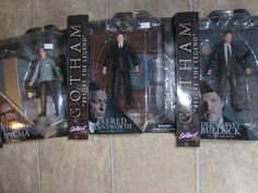 GOTHAM BEFORE THE LEGEND SELECT LOT OF 3  ACTION FIGURES NYGMA BULLOCK ALFRED #DiamondSelect