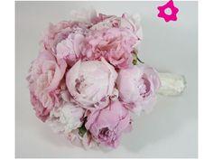 Ramo de novia con peonias de color rosa