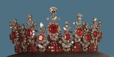 Diamond and ruby tiara, was made for the Shah of Iran's sister for his coronation in 1967