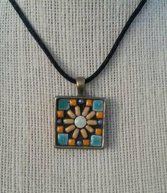 197 best mosaic pendants images on pinterest mosaic mosaic handmade mosaic pendant necklace by nikkisullivanmosaics on etsy httpsetsy aloadofball Image collections