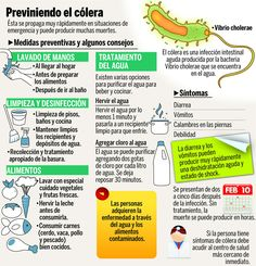 Cómo prevenir el cólera #infografia #infographic #health