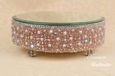Champagne Round cake stand  Bling Wedding by OccasionsUnlimited, $75.00