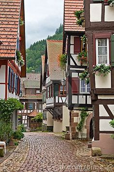 The village of #Schiltach  in #BlackForest, #Germany © Pere Sanz / Via: https://www.dreamstime.com/stock-photos-village-schiltach-germany-image16440703 / #reitznorthamerica