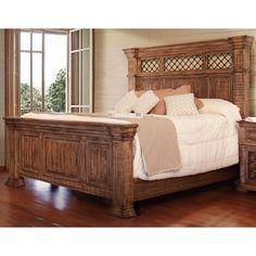 Imperial Pine Queen Panel Bed