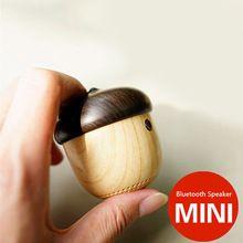 J2 portable sans fil haut-parleur bluetooth Mini Haut-parleurs Mignon En Bois Écrou Forme Unique Design Haut-Parleur Pour Téléphone Sac À Dos Voyage(China (Mainland))