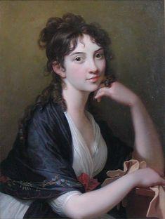 """""""Baroness Thomasine Christine Gyllembourg-Ehrensvärd (9 November 1773 – 2 July 1856) was a Danish author, born in Copenhagen. Her maiden name was Buntzen.""""   -- Wikipedia   painting by Jens Juel, ca. 1790, Frederiksborgmuseet, Hillerød, Denmark"""