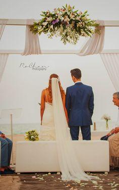 bodas mirando al mar: La fresca boda de Karina y Javier. Ceremonia civil boda en la playa . #boda #bodacivil #boda playa #bodaValencia