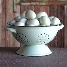 Robin's Egg Blue Colander