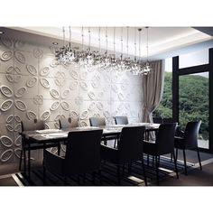 Curl Upwards, juega con la posición de los paneles decorativos para conseguir diferentes diseños ¡Impresionantes resultados! Aplica el color que quieras una vez instalado. Precios y características aquí: http://3dcora.es/home/10-panel-decorativo-3d-curl-upwards.html