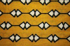 Kitenge: White and Black on Yellow by Dunia Duara, via Flickr