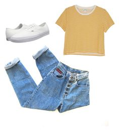 """""""Throwback"""" by amandaschnack on Polyvore featuring Monki and Vans"""