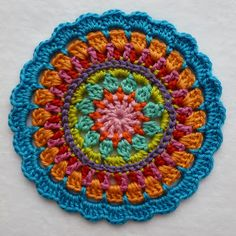 Karin on the hook: Mandala This is Made-in-K-town's mandala using different colours :) Amazing how different a mandala can look using a different colour!