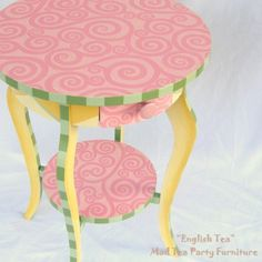 painted table. This would have been adorable in my daughters room when she was little.